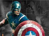 Игра Пазл-пятнашки Капитан Америка