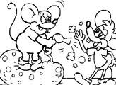 Игра Мыши веселятся - Раскраска