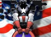 Игра Капитан Америка и Щит Пазл