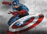 Игра Пазл - Капитан Америка
