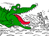 Игра Раскраска: Крокодил