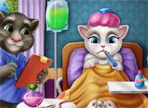 Игра Анжела болеет гриппом