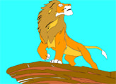 Игра Король лев: раскраска