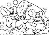 Игра Раскраска: Мыши и шампунь