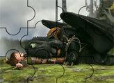 Игра Как приручить дракона: пазл