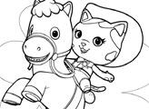 Игра Раскраска: Келли и Спарки