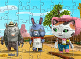 Игра Пазл: Шериф Келли и ее друзья