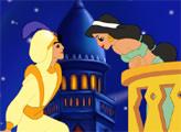Игра Алладин и Жасмин целуются