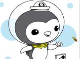Игра Раскраска: Пингвин Пейзо