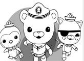 Игра Раскраска: Капитан, Квази и Пейзо спешат на помощь