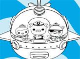 Игра Раскраска: Капитан, Квази и Пейзо в батискафе