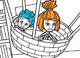 Игра Фиксики - Раскраска - На воздушном шаре