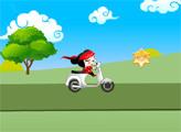 Игра Пукка на скутере