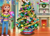 Игра Райли украшает дом перед Рождеством