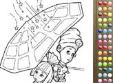 Игра Раскраска - Фиксики: Мася и Симка