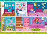 Игра Уборка в домике маленькой Ариэль