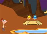 Игра Финес и Ферб: Приключения в подземелье