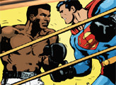 Игра Супермен против Мухаммеда Али: пазл