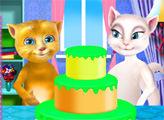 Игра Анджела и Джинджер готовят торт