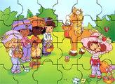 Игра Пазл: Маленькая  Шарлотта Земляничка и ее лошадка