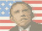 Игра Вышиваем крестиком - Обама