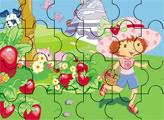 Игра Пазл: Шарлотта Земляничка собирает клубнику