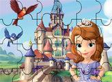 Игра Пазл - Принцесса София и замок