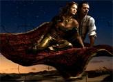 Игра Пазл Жасмин и Алладин на ковре самолете