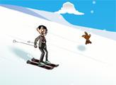 Игра Мистер Бин катается на лыжах