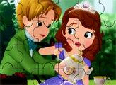 Игра Пазл - Принцесса София и Принц
