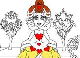 Игра Раскраска - Красная королева