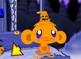 Игра Счастливая обезьянка: Хэллоуин