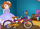 Игра София ремонтирует велосипед