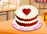 Игра Кухня Сары: Красный бархатный торт