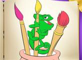 Игра Рапунцель - книжка раскрасок