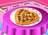Игра Кухня Сары: Пицца на День Святого Валентина