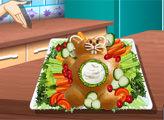 Игра Кухня Сары: Сладкий хлеб  - Пасхальный заяц