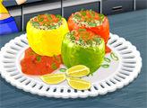 Игра Кухня Сары: Фаршированные Перцы