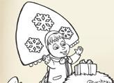 Игра Маша и Медведь - набор раскрасок