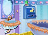 Игра Супер Барби убирает Ванну