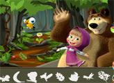Игра Маша и Медведь: поиск в лесу