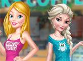 Игра Подруги Барби и Эльза