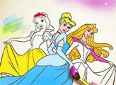 Игра Принцессы: Книжка-раскраска