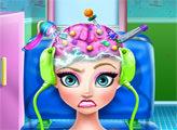 Игра Эльза операция на голове