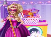Игра Стирка Супер Барби