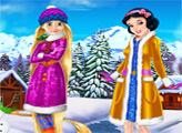 Игра Рапунцель и Белоснежка Зимний отдых