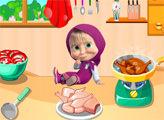 Игра Маша готовит еду