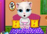 Игра Малышка Анджела болеет гриппом