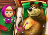 Игра Маша и Пострадавший Медведь