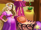 Игра Беременная Рапунцель и детская комната